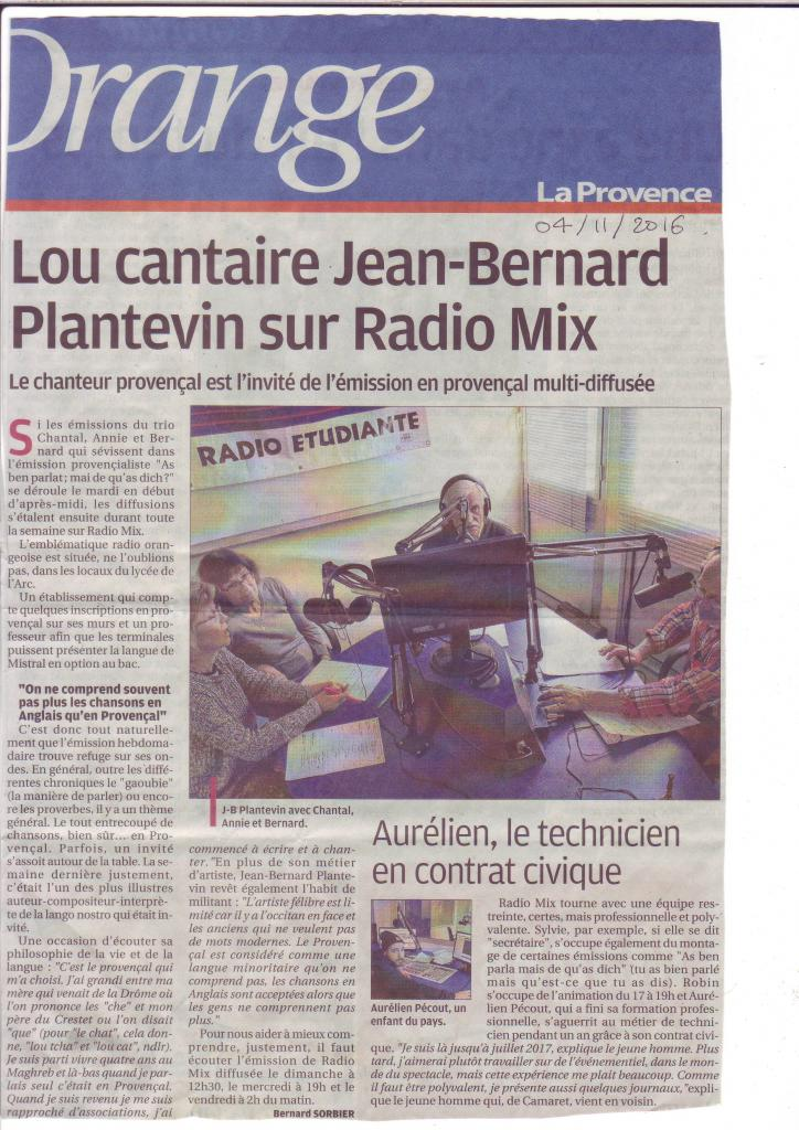 lou cantaire JB Plantevin