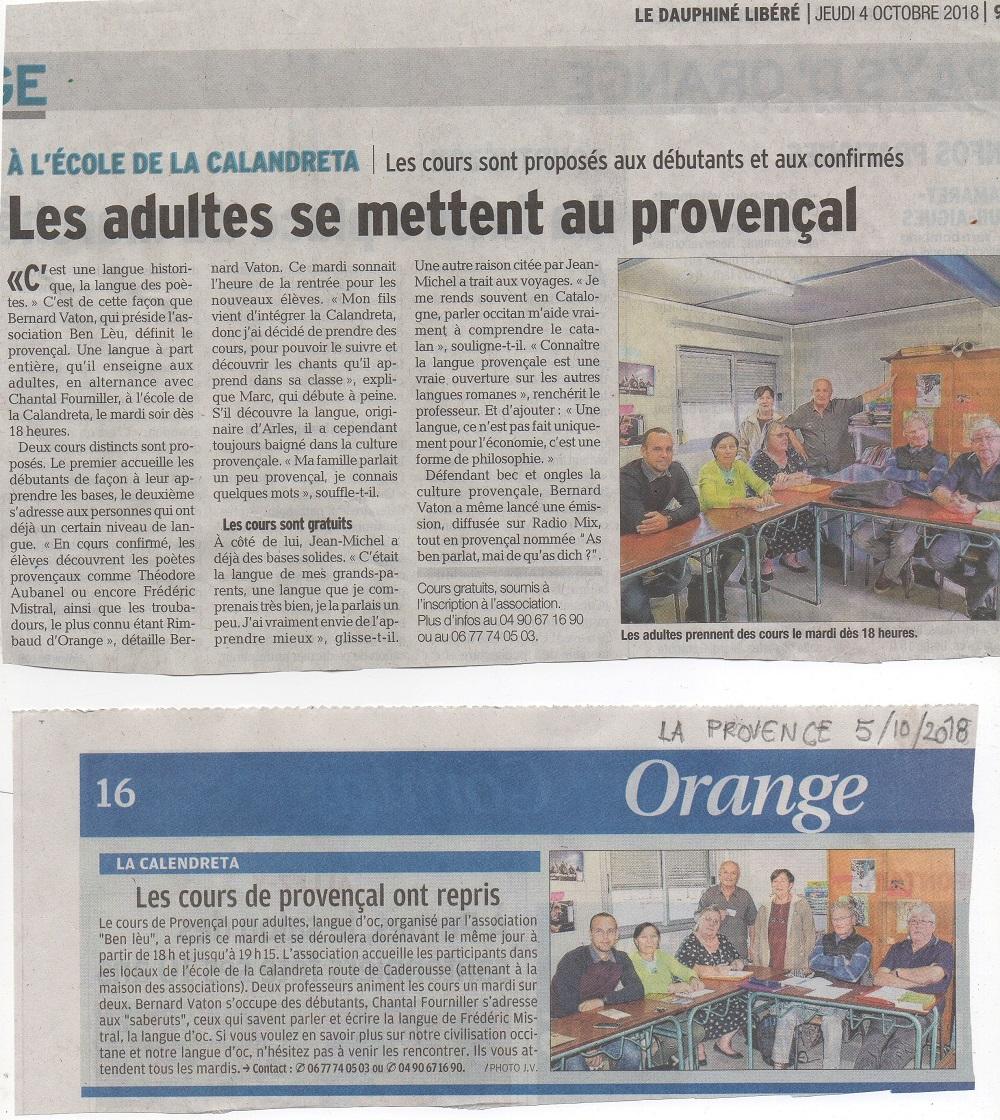 Articles sus lo cors d occitan